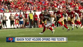Tampa Bay Buccaneers offer free tickets to season-ticket holders