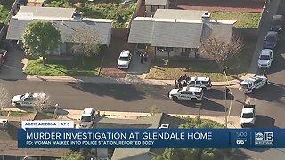 Murder investigation at Glendale home