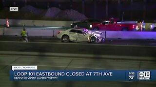 Crash shuts down Loop 101 near 7th Ave.