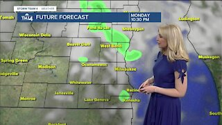 Scattered showers possible Monday evening