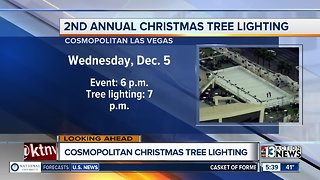 Christmas tree lighting at Cosmopolitan