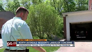 North Avondale residents trying to fundraise to fix landslide problem