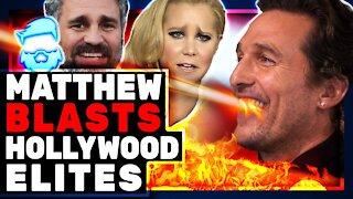 Matthew McConaughey DESTROYS Far Left Hollywood Elites On Russell Brand Show!