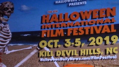 HIFF 2019 Introduction to the screening of WITCH TALES at the Regal Cinema in KILL DEVIL HILLS, NC