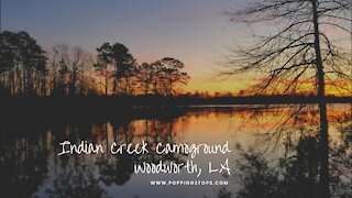 Camping in Indian Creek, Woodworth, Louisiana