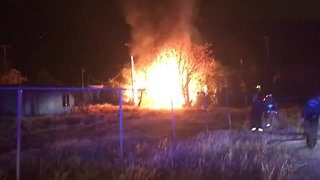 Firefighters battle south side mobile home fire
