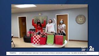 Girls basketball team donates to shelter