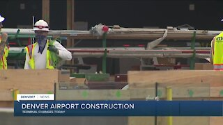 DIA Update: Terminal construction, Pena work, new airline