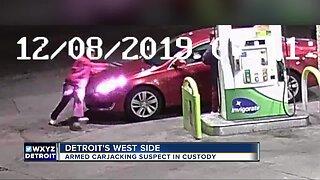 Armed carjacking suspect in custody