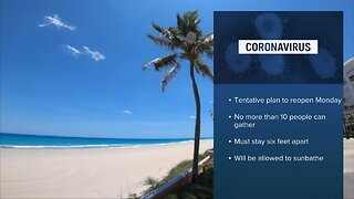 Palm Beach County to announce when beaches will open