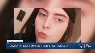 Family speaks after teen shot, killed