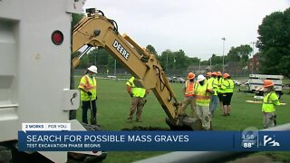 Search for possible mass graves