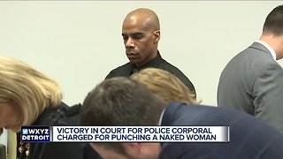 Victory in court for police corporal charged with punching naked woman