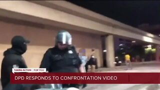 Detroit police respond to viral video of confrontation between officers and protesters