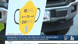 Renewed focus on protective COVID-19 measures in Baltimore County