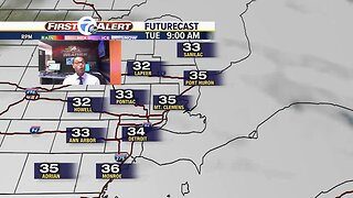 Breezy and chilly start to the workweek
