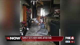 Family gets new home after fire