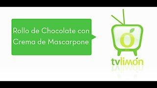 Chocolate Roll with Mascarpone Cream