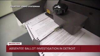 Absentee ballot investigation in detorit