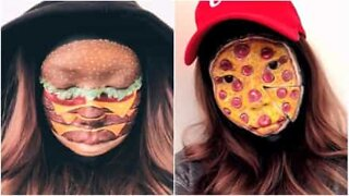 Kunstner lager utrolig realistisk ansikts og kroppsmalerier av fast food