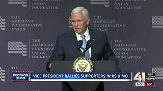 Vice president rallies supporter in KS, MO