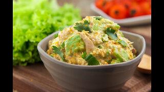 Keto Curry Spiked Tuna and Avocado Salad Rcipy