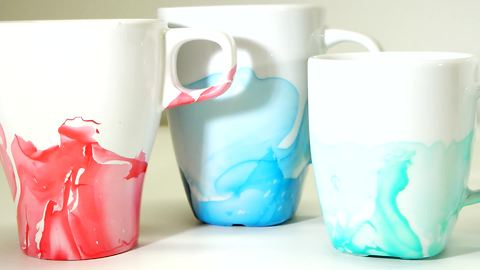 DIY nail polish coffee mugs
