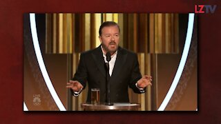 Ricky Gervais Blasts Hollywood at the Golden Globes