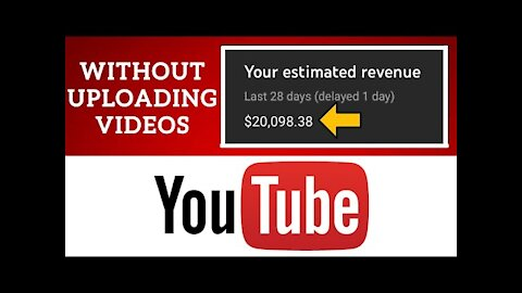Earn $20,000+ Using YouTube Without Uploading Videos   Make Money Online   How To Make Money Online