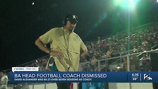 BA head football coach dismissed