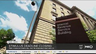 IRS Stimulus deadline closing