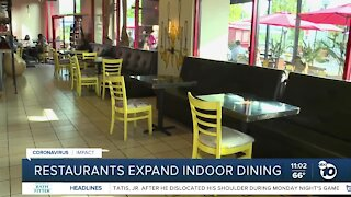 San Diego restaurants expand indoor dining