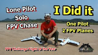 FPV Challenge Flight One Pilot Flying Two FPV Wings FPV Airplane Chase