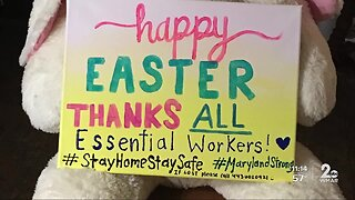 Kind Easter message to essential workers stolen in Parkville