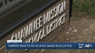 Parent reacts as school mask rule lifted