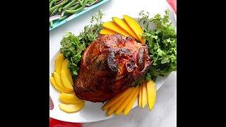 Mango Mustard Glazed Ham