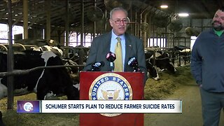 Senator Schumer shares his plan to help reduce suicide rates among farmers