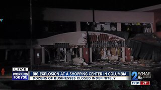 Shopping center in danger of complete collapse following early morning explosion