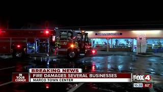 Fire damages several businesses in Marco Town Center
