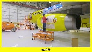 Spirit debuts 'Dumbo'-themed airplane at Detroit Metro Airport