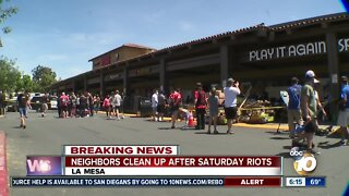 La Mesa comes together to clean up after riots