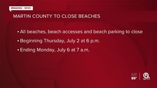 Martin County to close public beaches for Fourth of July weekend