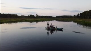 Beautiful evening for snakeheads fishing