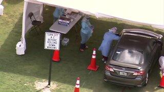 CHOPPER 5 VIDEO: Coronavirus testing site opens at FITTEAM Ballpark in West Palm Beach