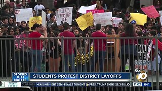 Sweetwater UHSD students protest district layoffs
