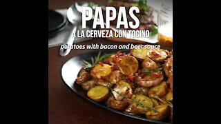 Potatoes with Bacon and Beer Sauce