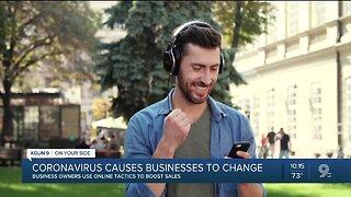 Coronavirus online sales