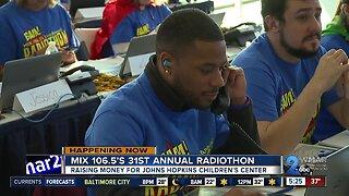 MIX 106.5's 31st annual Radiothon raising money for Johns Hopkins Children's Center