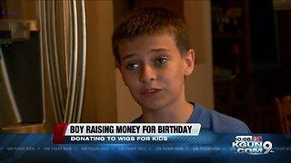 Tucson boy donates hair, is raising money for kids fighting cancer