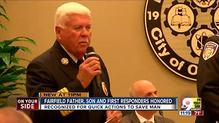 Fairfield police, EMS helped son save father's life